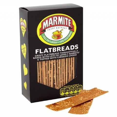 Marmite Flatbreads Savoury Snacks Dorset Village Bakery 140g